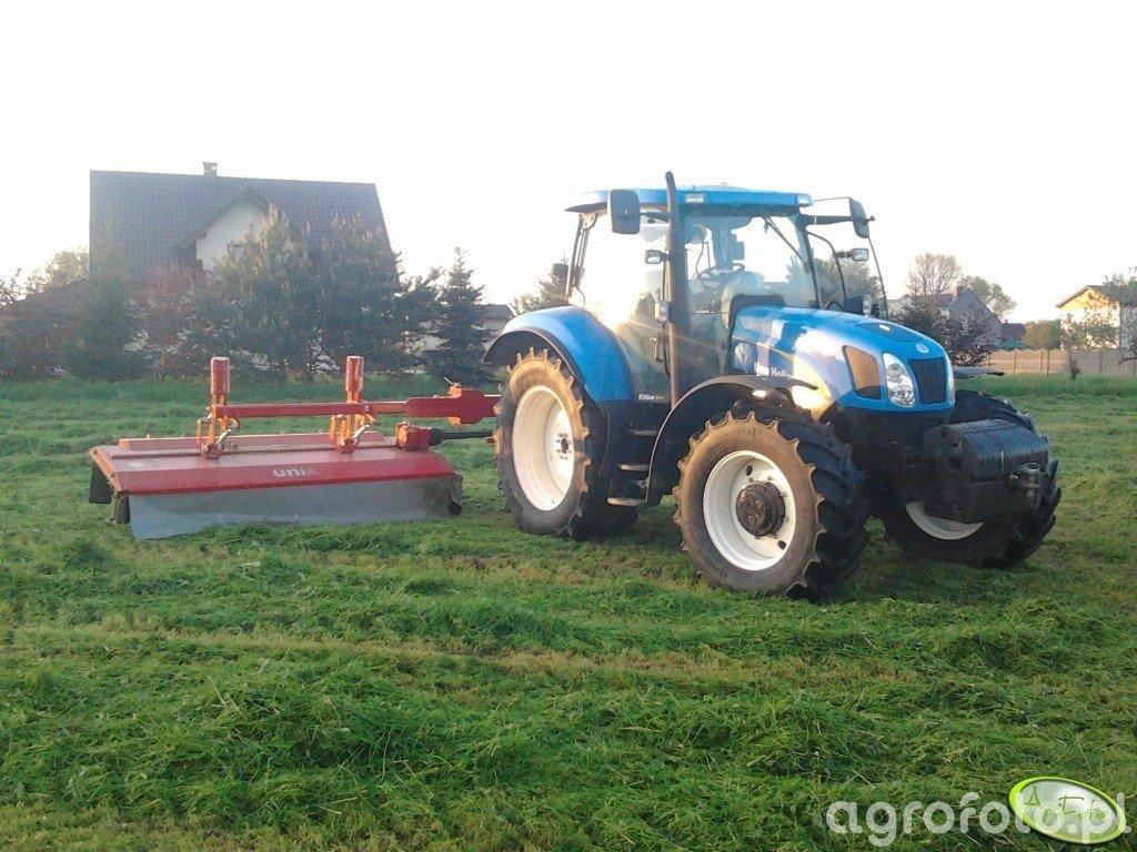 New Holland T6070 Elite & Unia Alka XL3S