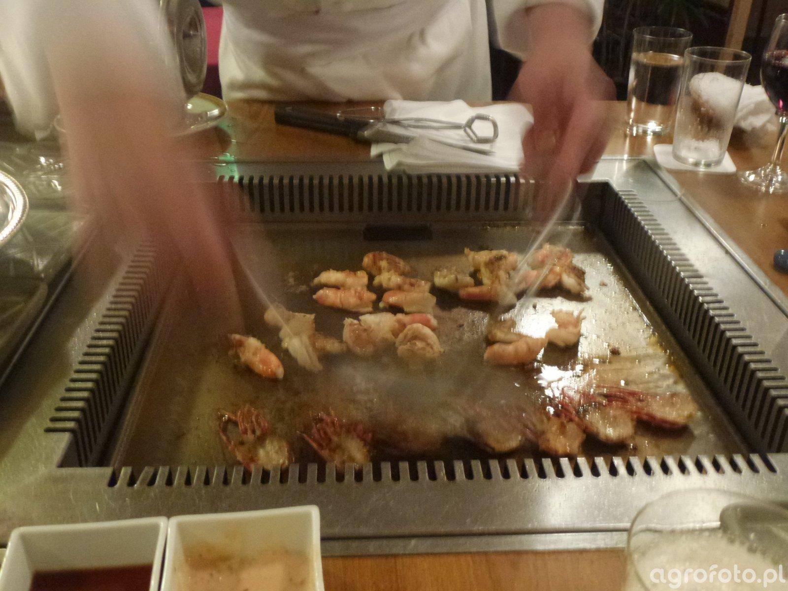 Hotelowa kolacja w Tokio - Teppanyaki