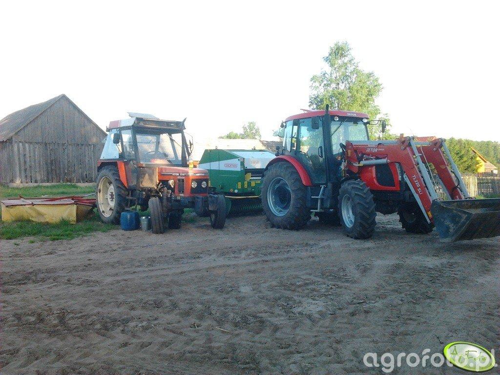 Zetor 7711 + UNIA MEWA 1.85 i Zetor Proxima 100 + Sipma Farma II