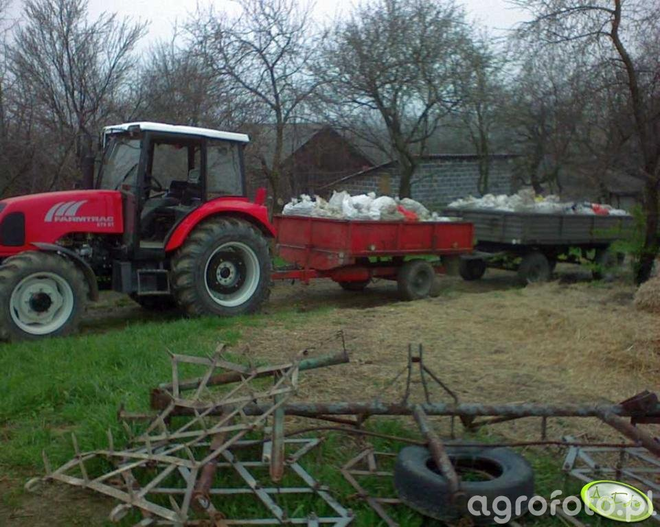 Farmtrac 675DT + przyczepy