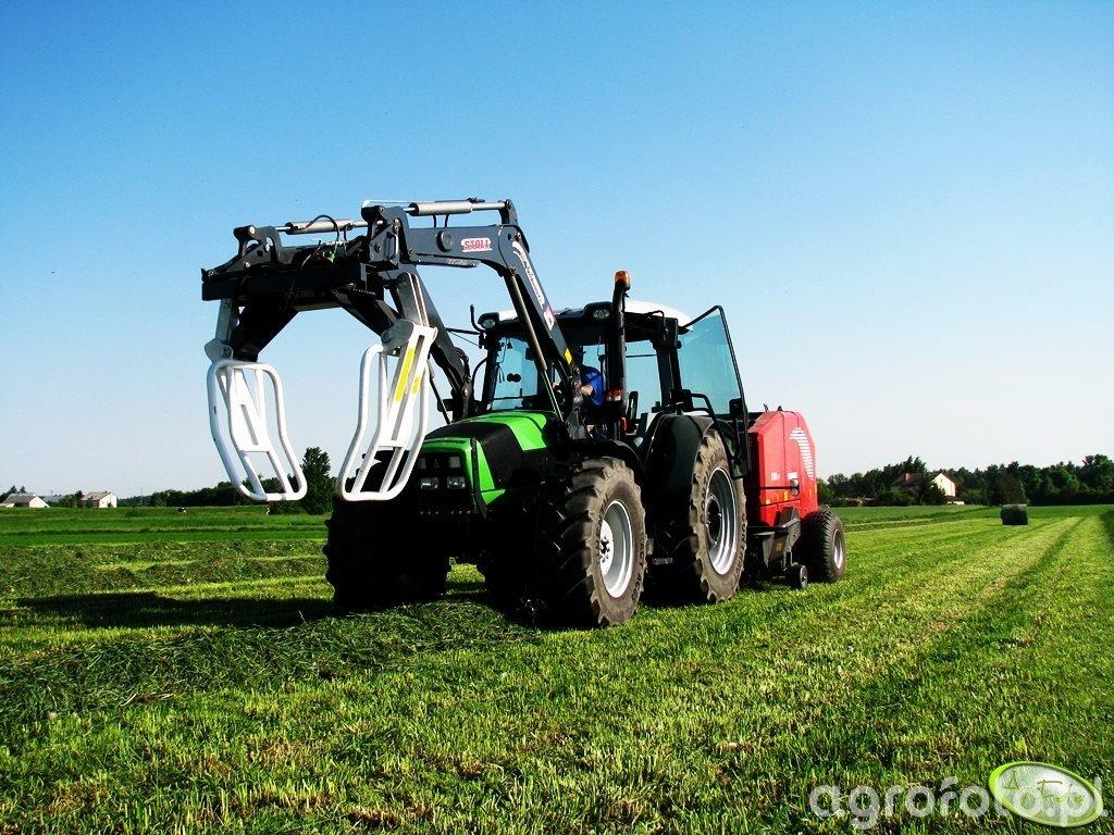 Deutz Fahr Agrofarm 410 + Stoll FZ10 & Metal Fach Z562R