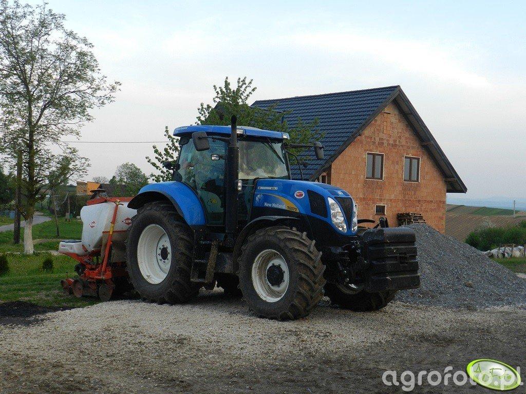 New Holland T6070 PC + Kuhn maxima 2 gt