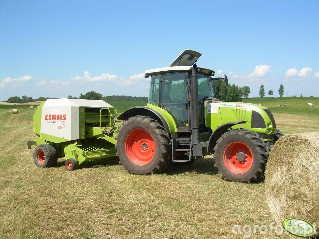 Claas Ares 657ATZ + Claas Rollant