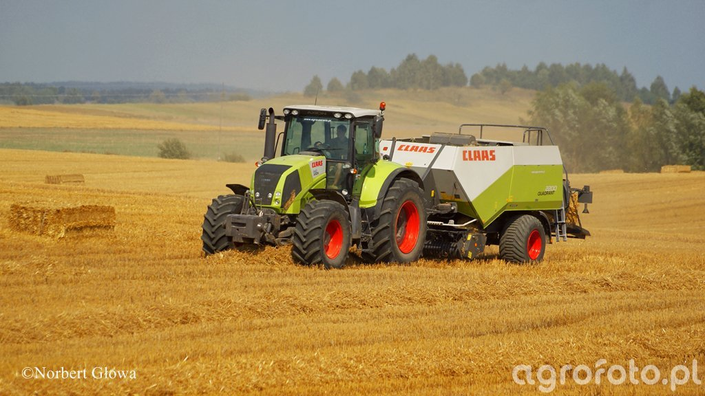 Claas Axion 840 + Quadrant 2200