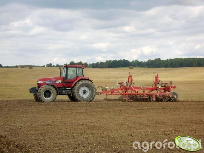 Case 7250 vs Agregat uprawowy Kverneland