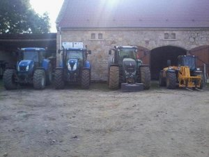 New Holland T7.185 & NH TVT 195 & Fendt 927 Vario & JCB 531-70 Agri