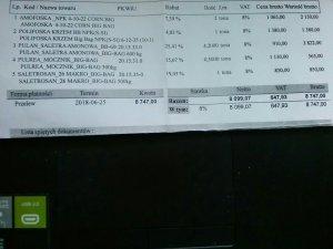 Ceny nawozów czerwiec 2018