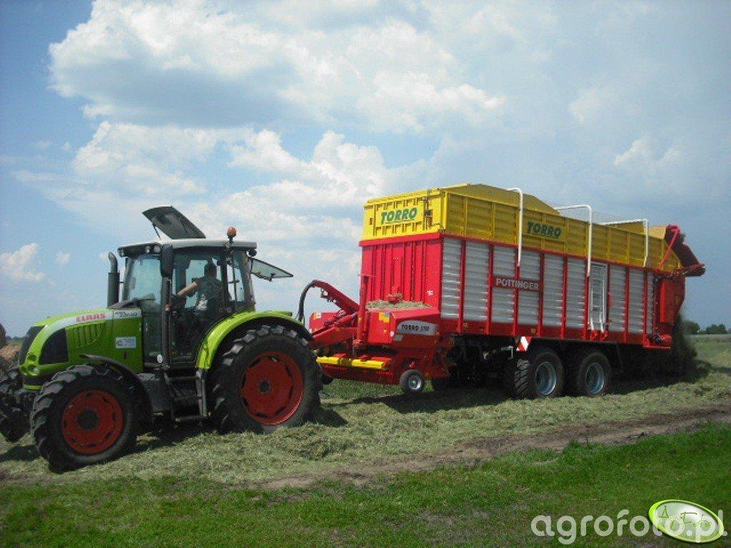 Claas Ares 567 ATX + Pottinger Torro 5700