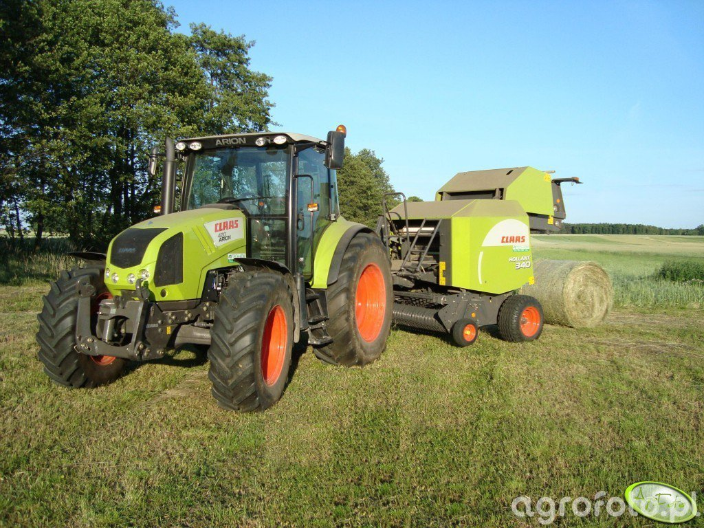 Claas Arion 420cis + Rollant 340