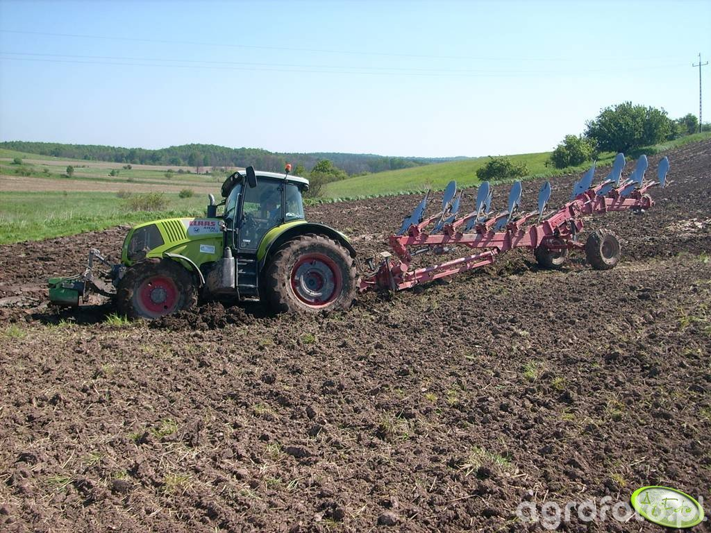 Claas Axion 850 +  Gregoire Besson 7-skibowy