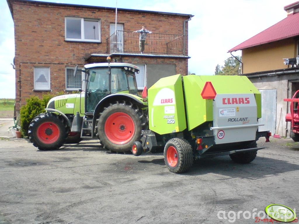 Claas Ares 657ATZ + Claas Rollant 350RC