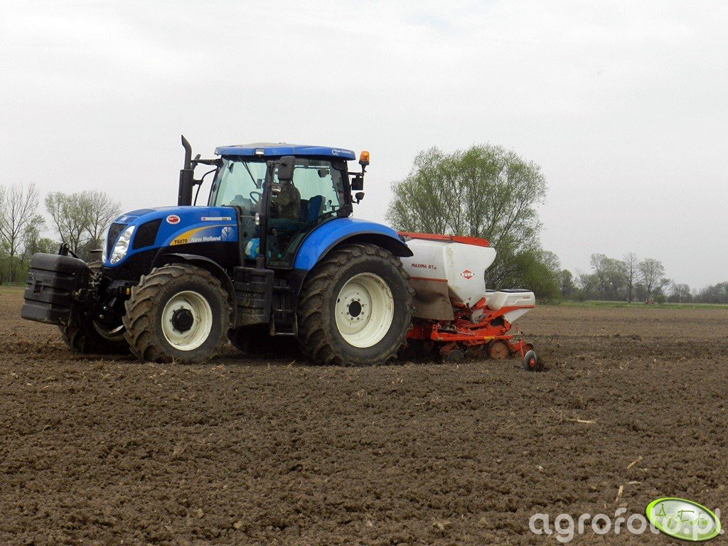New Holland T6070 PC + Kuhn maxima 2 gt