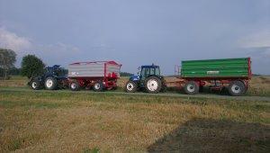 New Holland TL90A + MetalTech Eco10 i New Holland T4030 + Warfama T670