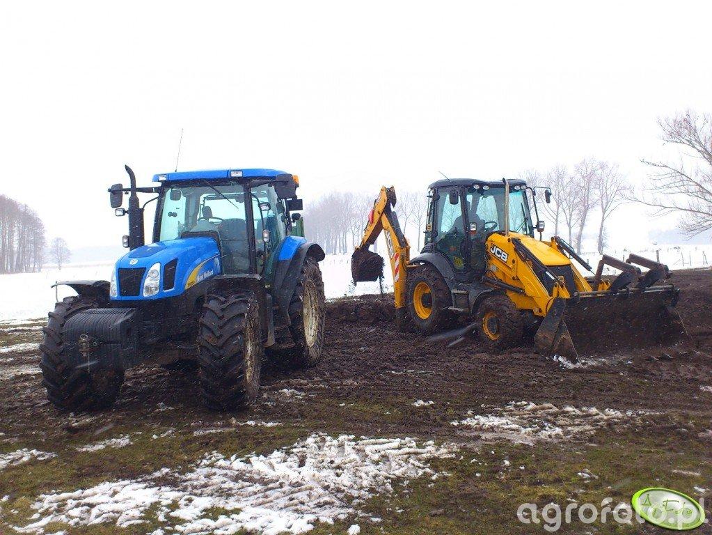 New Holland T6050 PLUS + JCB