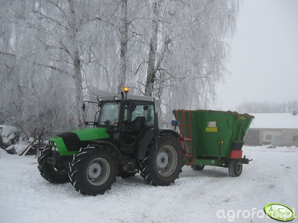 Deutz - Fahr Agrofarm 420 + Pronar VMP - 10