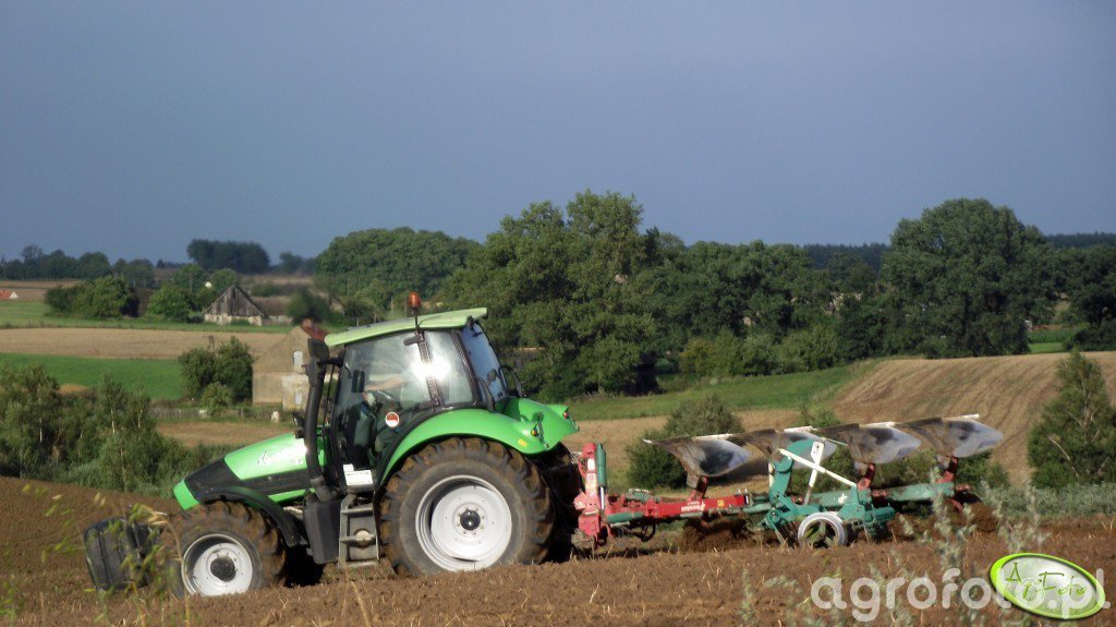 Deutz Fahr Agrotron 150 & Kverneland ES 95
