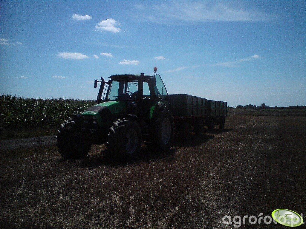 Deutz-Fahr Agrotron 155 i przyczepki