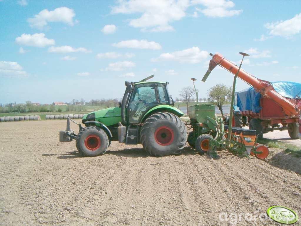 Deutz-Fahr Agrotron TTV 1160 + Amazone ED 601K