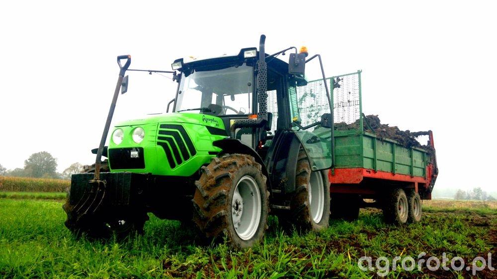 Deutz-Fahr Agroplus 67 & Rozrzutnik Tandem 6t
