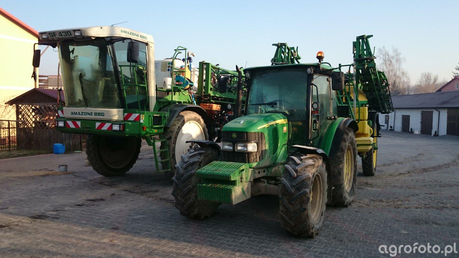 Amazone sf430 + John Deere 5820 i John Deere 840