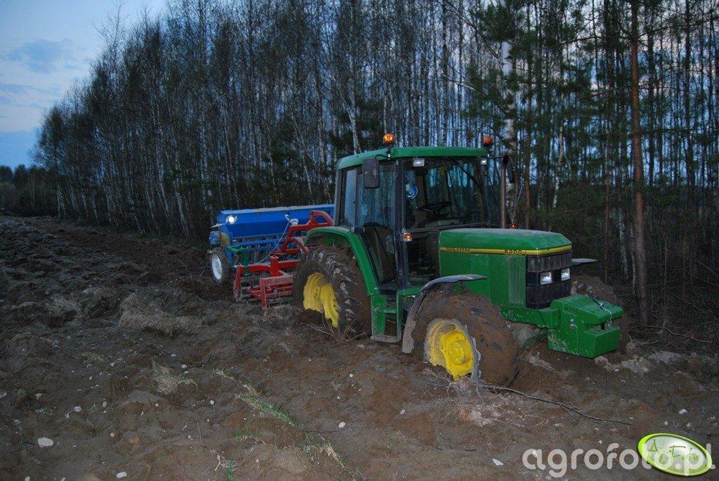 John Deere 6200 + AgroMasz AS 2,7m + Poznaniak