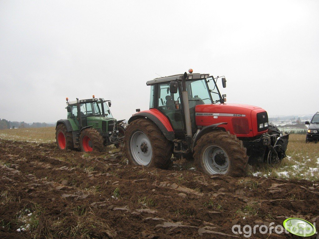 Massey Ferguson 8240 + Kverneland & Fendt Favorit 818 + Kverneland