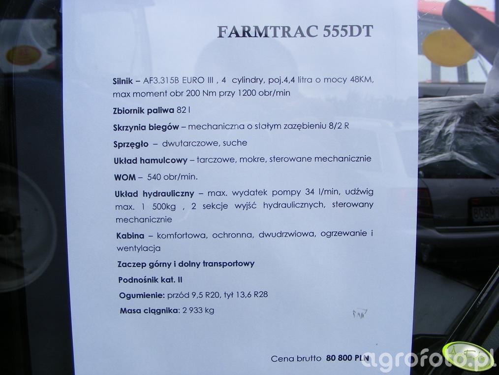 Farmtrac 555 TD - dane