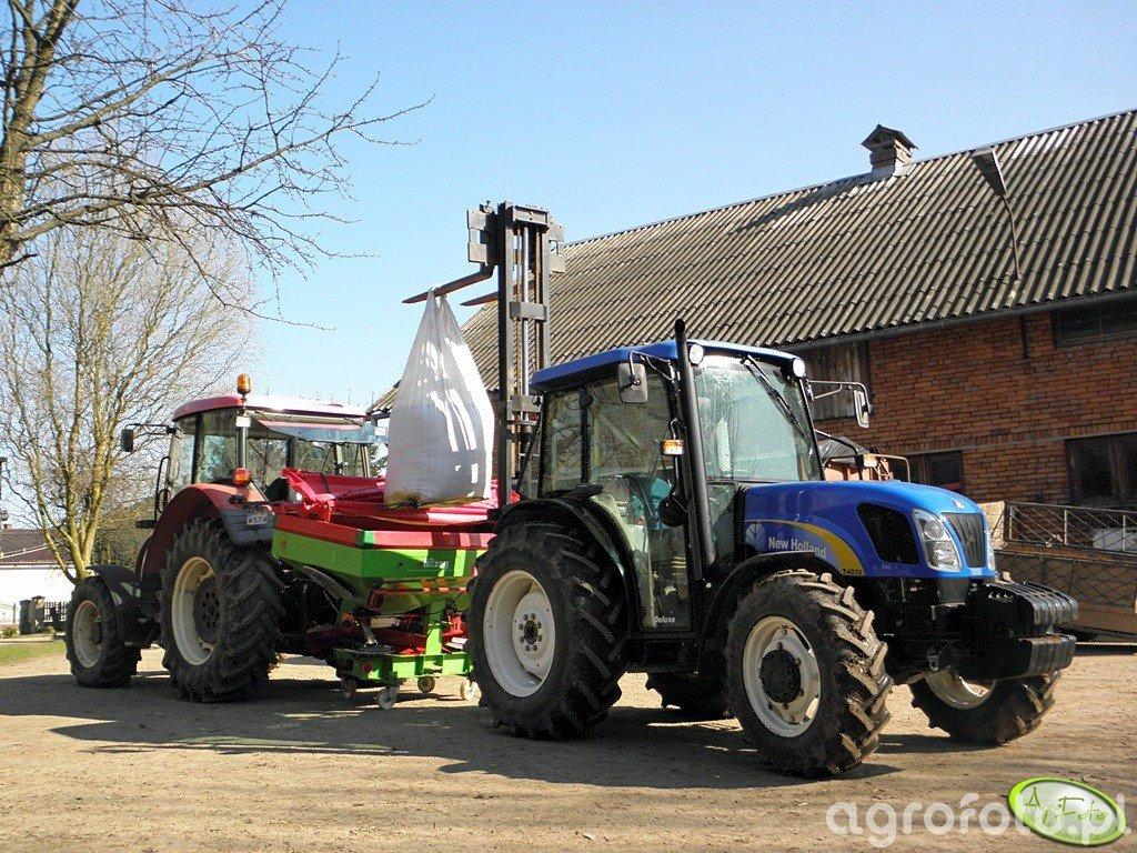 New Holland T4020 + Maszt