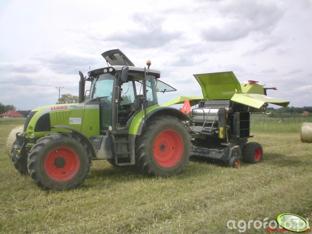 Claas Ares 657ATZ + Claas Rollant 350 RC