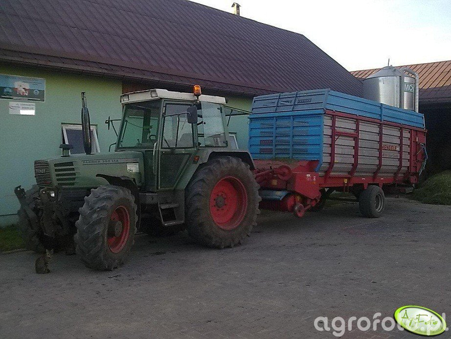 Fendt 309 LSA + Mengele LAW 360 Super Quadro