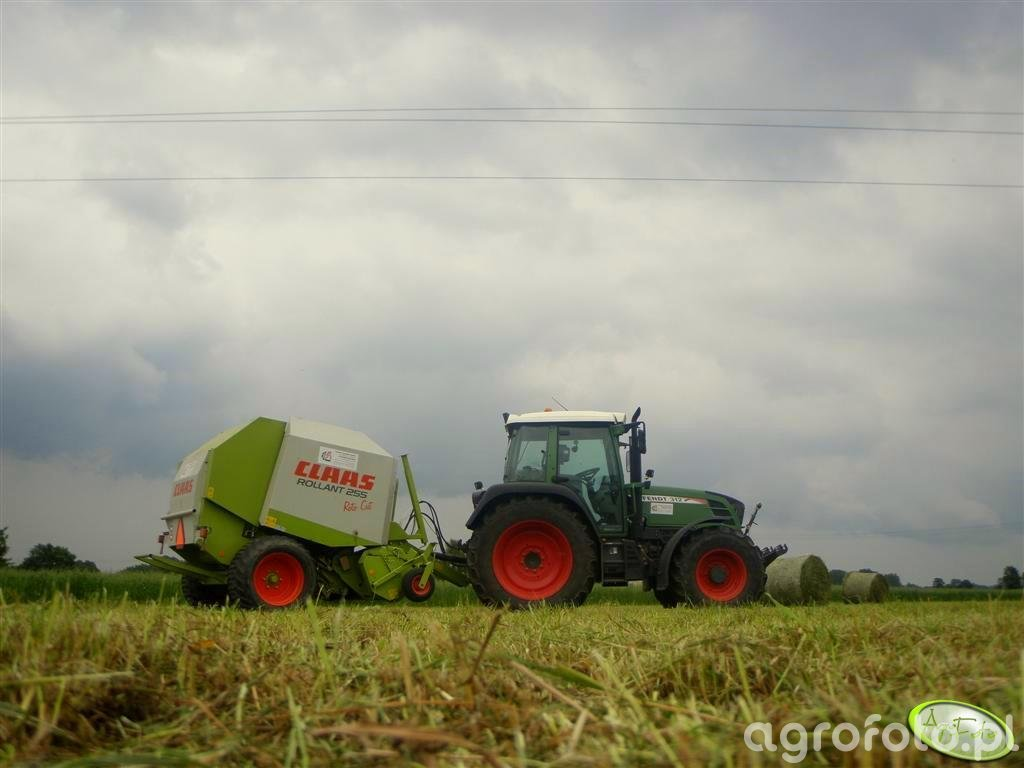 Fendt 312 Vario + Claas Rollant 255RC