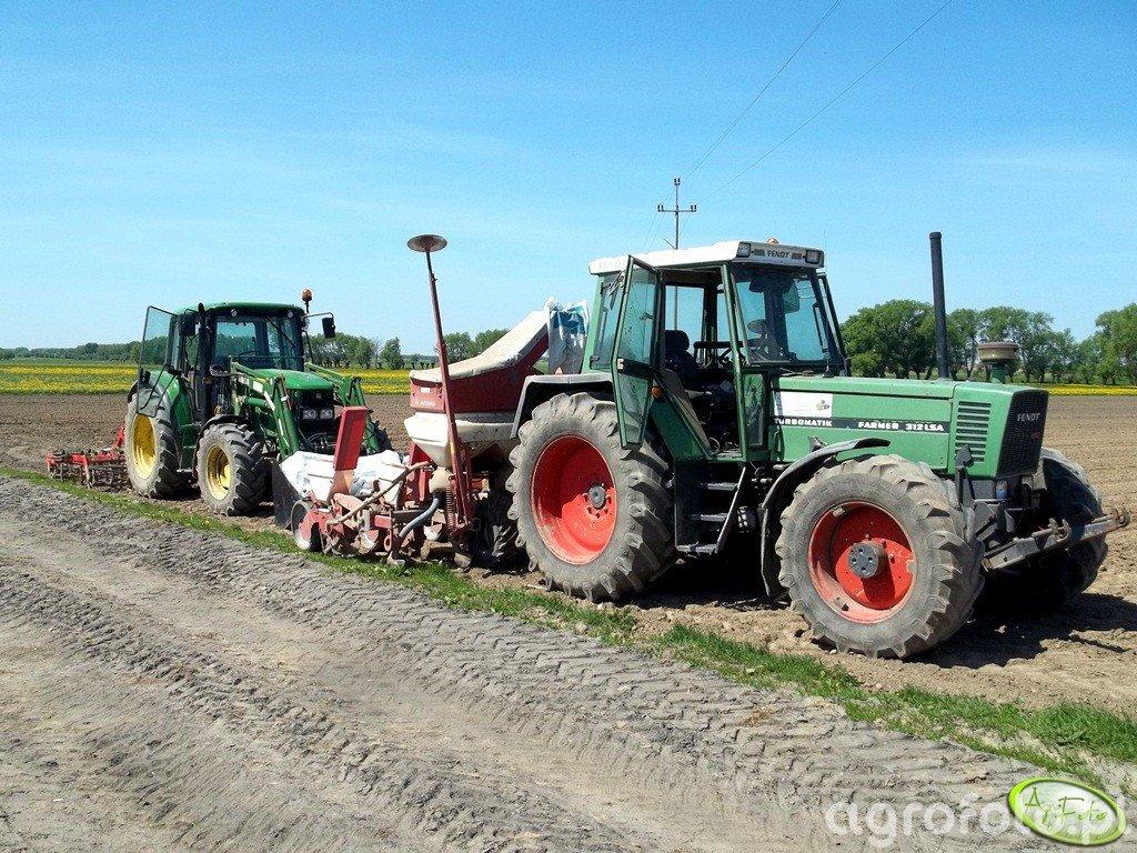 Fendt  Farmer 312 + Accord Optima & John Deere 6230 Comfort + TUR6+Kombi 3m
