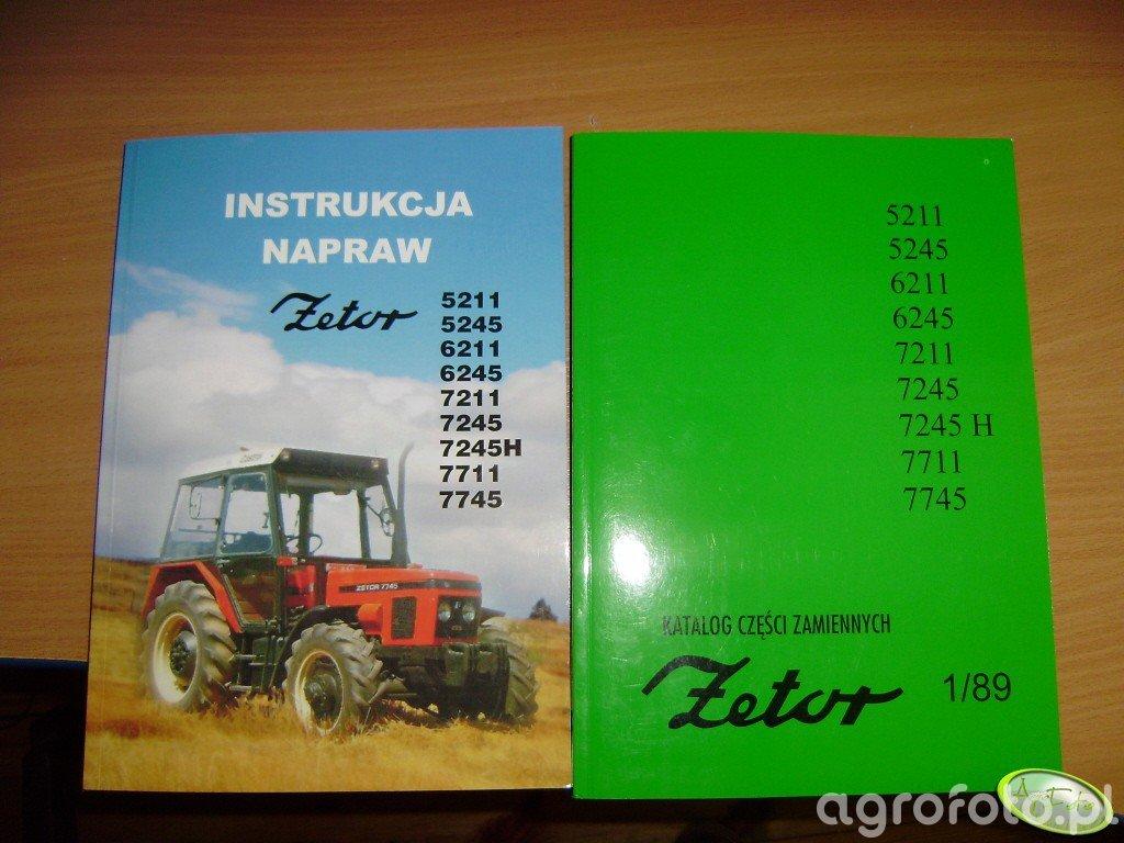 Instrukcja napraw i katalog części zamiennych Zetor 5211-7745