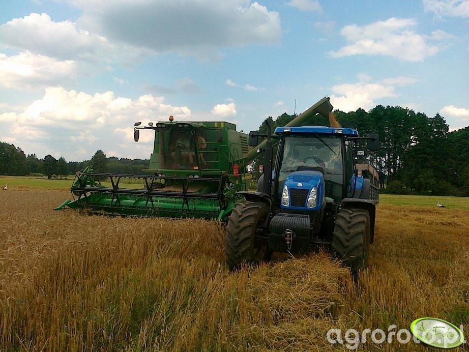 John Deere 1470 + New Holland T6050 PLUS + Przyczepa