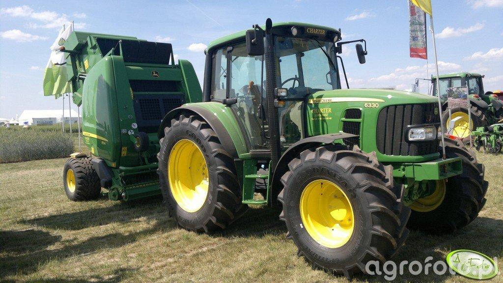 John Deere 6330 + JD 854