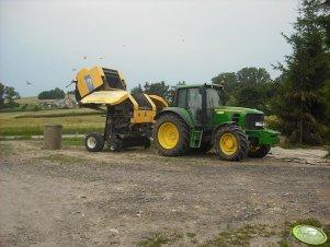 John Deere 6630 + New Holland BR 7060