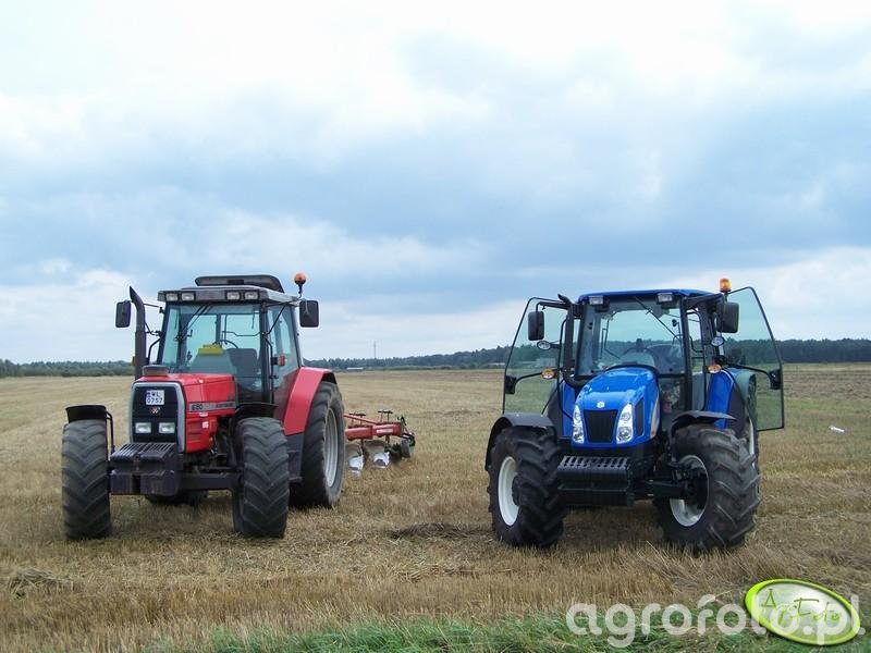 Massey Ferguson 6180 i New Holland T5050