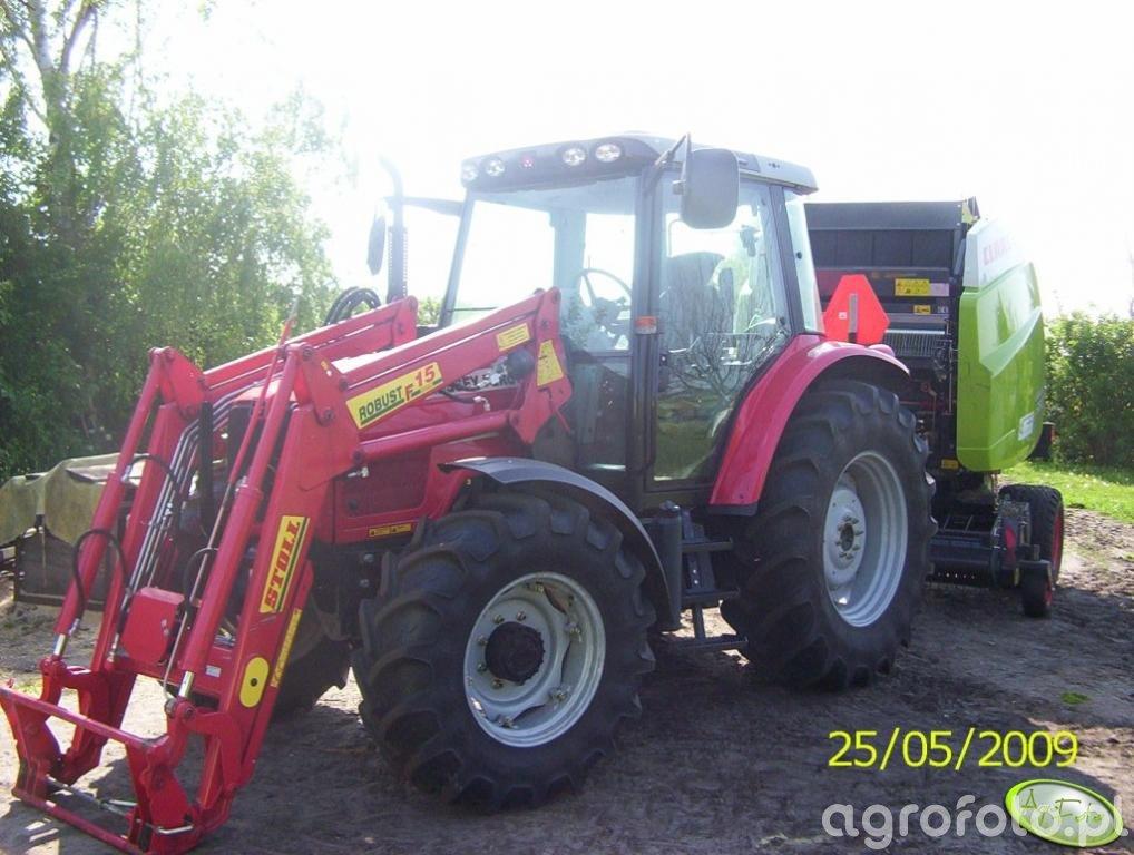 MF 5435 + Claas Variant 380