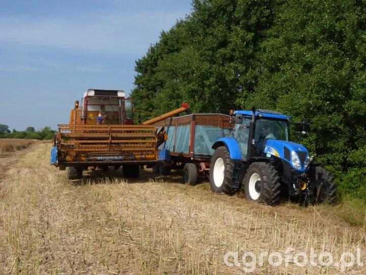 New Holland T6080 & Bizon Z056