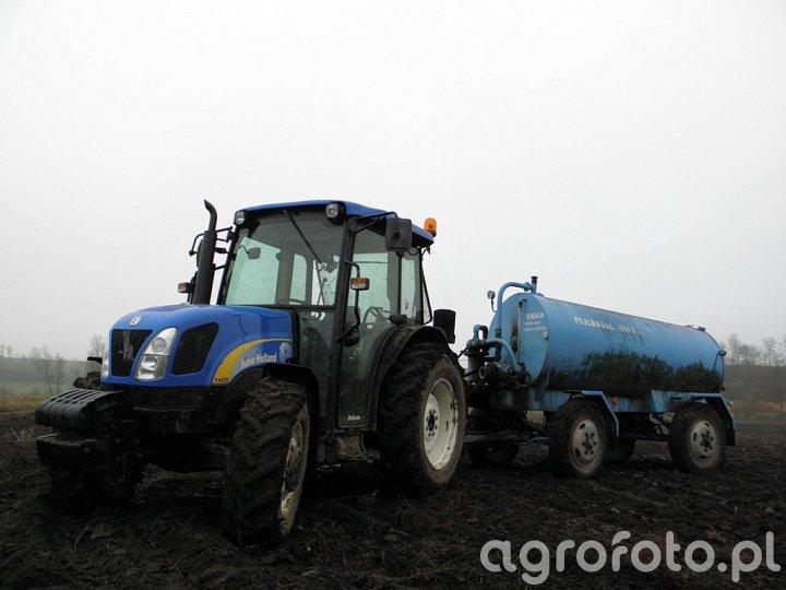 New Holland T4020 + Pomot Chojnia 3500