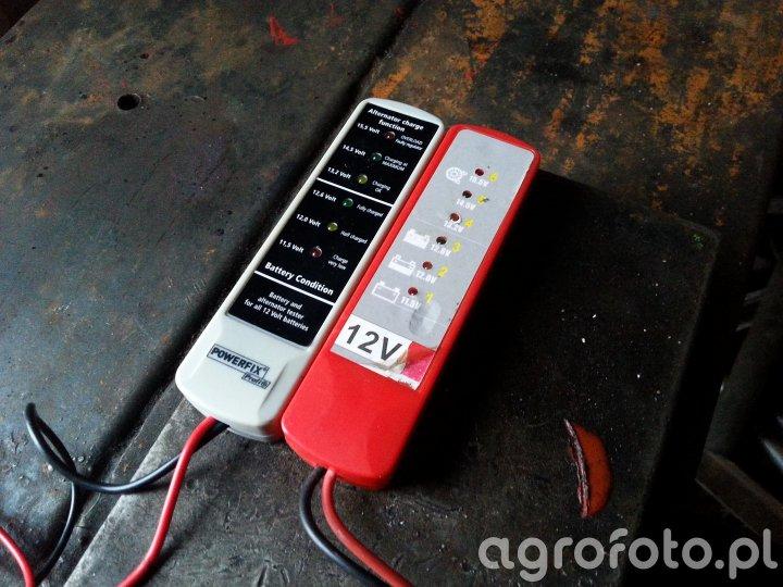 Diodowy miernik napięcia akumulatora 12V tester
