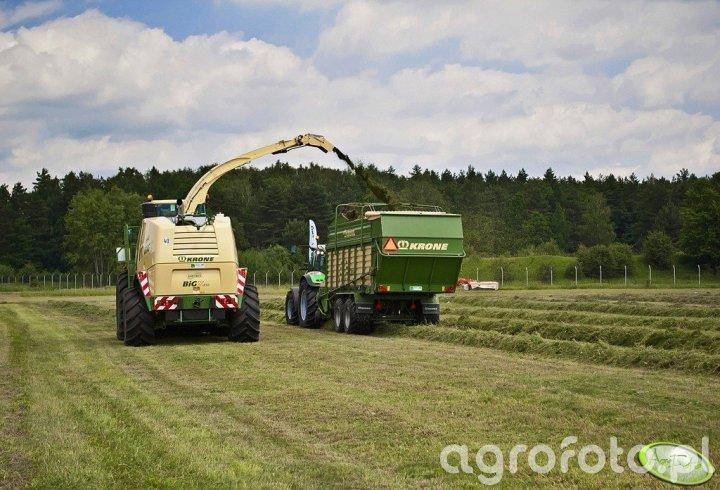 Deutz-Fahr Agrotron K430 + Krone AX280GD + Krone Big X850