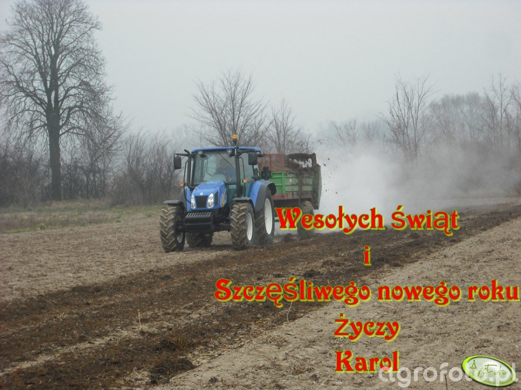 New Holland T5040  & Rozrzutnik