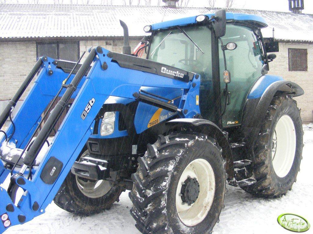 Obraz traktor New Holland T6020 + Quicke q56 #399554 - Galeria