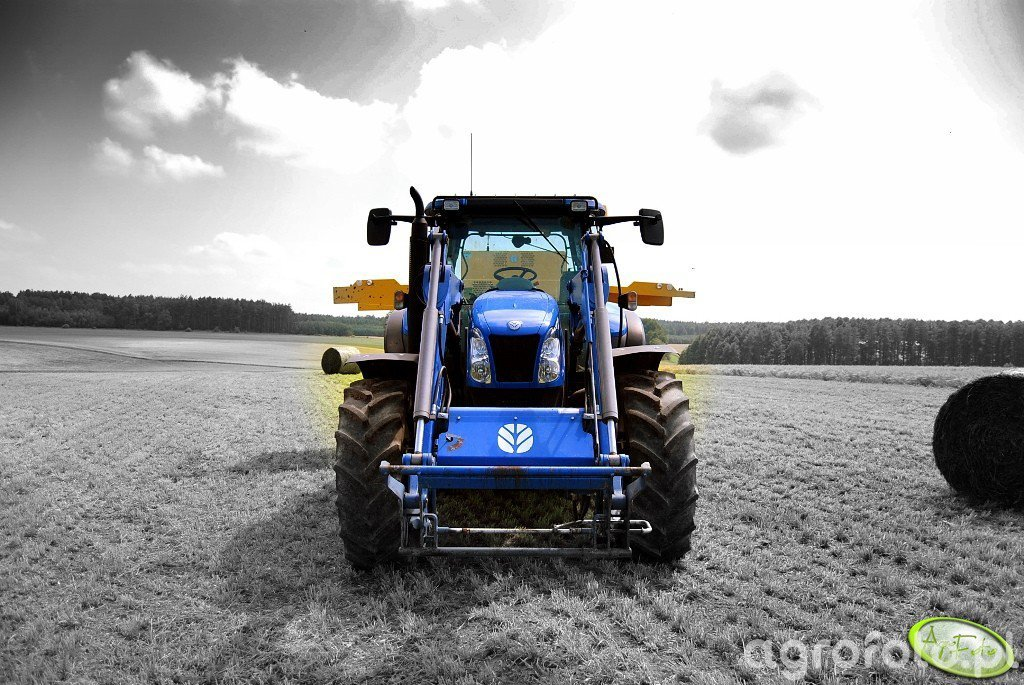 New Holland T6030 Delta + New Holland BR6090