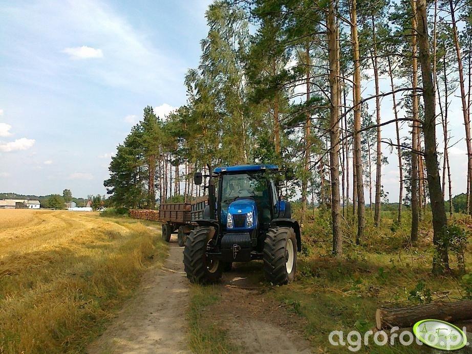 New Holland T6050 Plus + Przyczepy