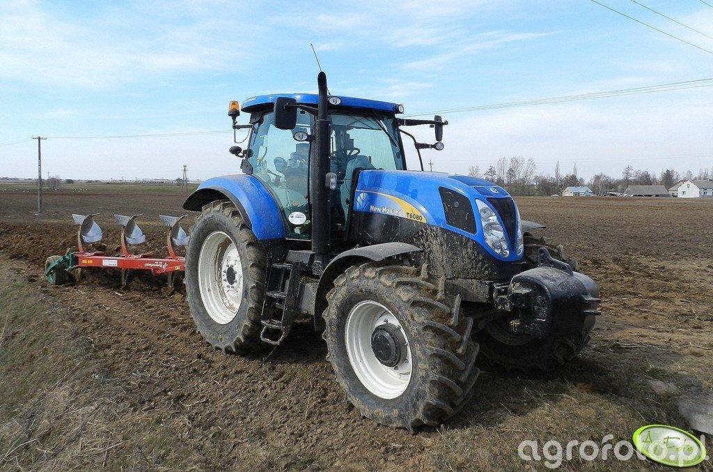 New Holland T6080 + Kverneland EM100