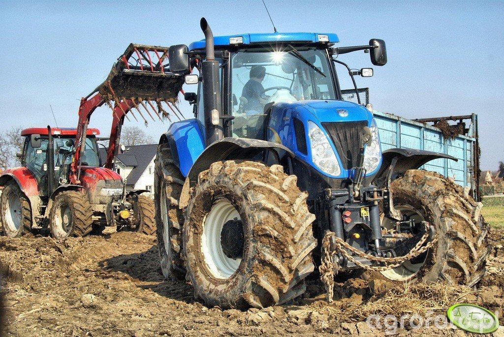 New Holland T7030AC + T088  & Case IH Maxxum 115multi LRZ 130