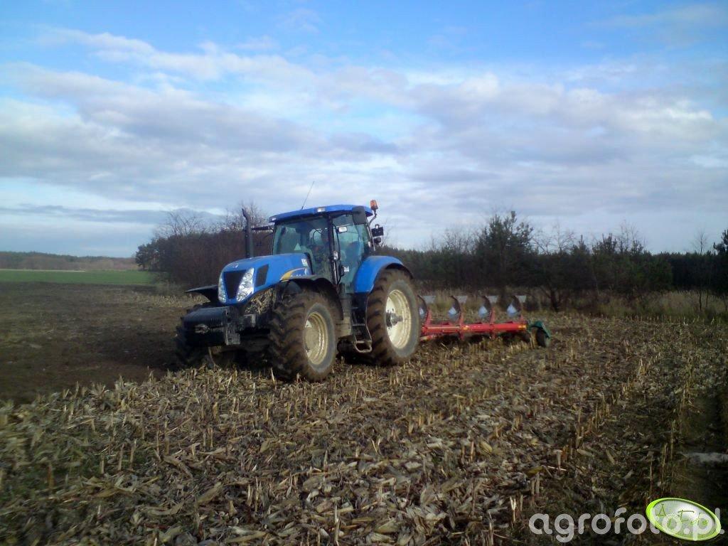 New Holland T7040 + Kverneland