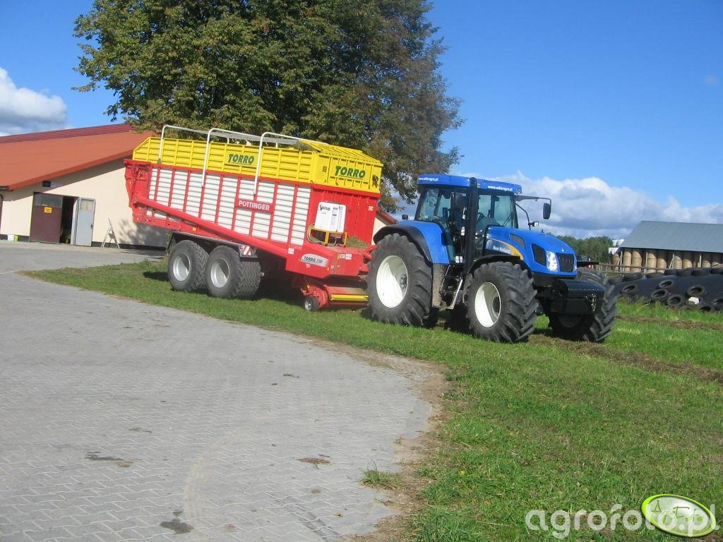 New Holland T7540 + Pottinger Torro 5700